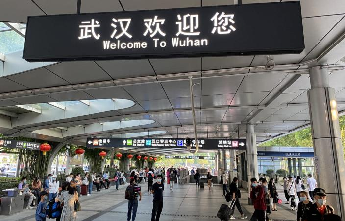 "<span class=""caption"">One of the Wuhan train stations in fall 2020. The city reopened in April 2020 after a total shutdown.</span> <span class=""attribution""><span class=""source"">Liu Yan</span>, <a class=""link rapid-noclick-resp"" href=""http://creativecommons.org/licenses/by-sa/4.0/"" rel=""nofollow noopener"" target=""_blank"" data-ylk=""slk:CC BY-SA"">CC BY-SA</a></span>"