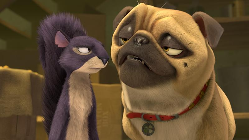 Surly (Will Arnett) and Precious (Maya Rudolph) in 'The Nut Job'