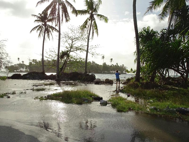 Residents in in low-lying areas of the Marshall Islands have already faced severe flooding, underscoring their vulnerability to climate change: AFP