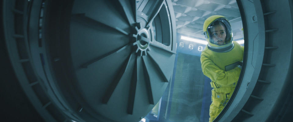 """This image released by Lionsgate shows Lily-Rose Depp in a scene from """"Voyagers."""" (Lionsgate via AP)"""