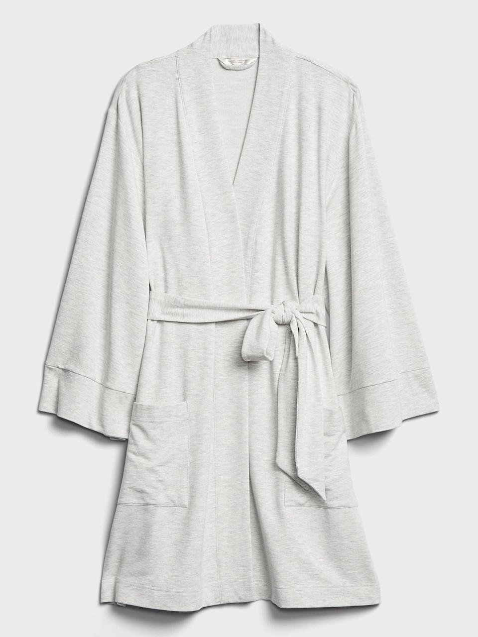 <p>This <span>Banana Republic Super Soft Robe</span> ($78) is so cozy pre or post bath!</p>