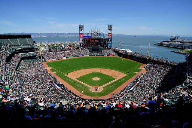 The San Francisco Giants are considering moving in the fences at Oracle Park. (Getty Images)