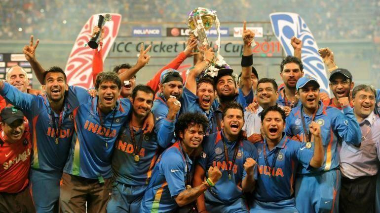 The victorious Indian team