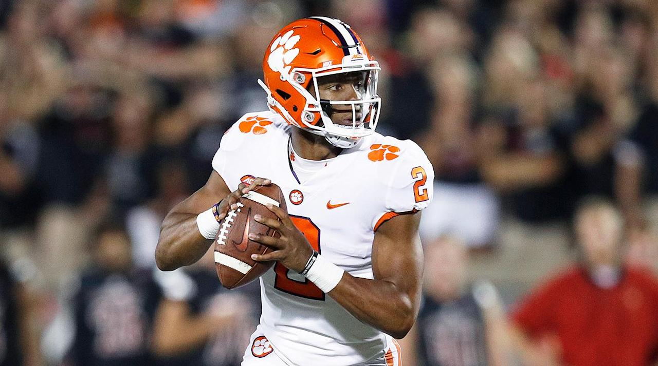 "<p>The Clemson Tigers are off to a 3–0 straight up and against the spread start in 2017, bringing their record since the start of the 2016 season to 17–1 SU and 11–7 ATS. The Tigers have surged up the betting board to become one of the top favorites to win the national championship.</p><p>Clemson is now <a rel=""nofollow"" href=""https://ec.yimg.com/ec?url=http%3a%2f%2fwww.oddsshark.com%2fncaaf%2fcollege-football-national-championship-odds%26quot%3b%26gt%3bgoing&t=1506276350&sig=IbrwPcydFFRu34QVvPMB_A--~D off at +550 to win the national championship</a>, second only to Alabama at +200 at sportsbooks monitored by OddsShark.com. This year's Tigers defense looks like it could be one of the best in the country after holding Auburn to six points at home and then Louisville to 21 on the road, with 14 of those points coming in the fourth quarter when the game was already in hand.</p><p>The Tigers also seem to have a legitimate replacement for Deshaun Watson under center in Kelly Bryant, which has elevated them from a potential contender at +2800 during the preseason to a legitimate one.</p><p>Both the Oklahoma Sooners (+800) and Oklahoma State Cowboys (+900) have seen their odds jump up considerably after starting their seasons off 3–0 SU and ATS. Oklahoma had opened the regular season at +1600 to win the title while Oklahoma State was going off at +3300.</p><p>The two teams meet at Oklahoma State in November, and could also meet again in the Big 12 title game if they wind up being the top two teams in the conference as expected.</p><p>Despite Ohio State's loss to Oklahoma, the pecking order in the Big Ten has remained unchanged with Ohio State going off at +850 to win the championship followed by Penn State (+1200), Michigan (+2000) and Wisconsin (+2200). If the Buckeyes win out, they still figure to be a playoff team even with the one blemish on their schedule.</p><p>Other potential contenders include USC (+700), Georgia (+2200), Florida State (+2800), Washington (+2800), Virginia Tech (+4000), Oregon (+4000), and Mississippi State (+4000).</p><p>Virginia Tech has climbed up from preseason odds of +7500 with its 3–0 SU start while Oregon and Mississippi State have jumped from +10000 and +50000 respectively. LSU (+5000) and Auburn (+7500) have seen their odds plummet thanks to early season losses.</p><p><em>For more info, picks and a breakdown of this week's top sports betting news check out the new OddsShark podcast with Jon Campbell and Andrew Avery. Subscribe on </em><a rel=""nofollow"" href=""https://itunes.apple.com/us/podcast/oddsshark-sports-betting-podcast/id1262011131?mt=2""><em>iTunes</em></a><em>, or check it out at </em><a rel=""nofollow"" href=""http://oddsshark.libsyn.com/""><em>OddsShark.libsyn.com</em></a><em>.</em></p>"