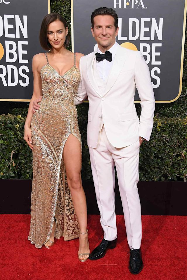 Bradley's fit is a little elegant and a little Colonel Sanders, which means it's just serious enough for a night like the Globes.