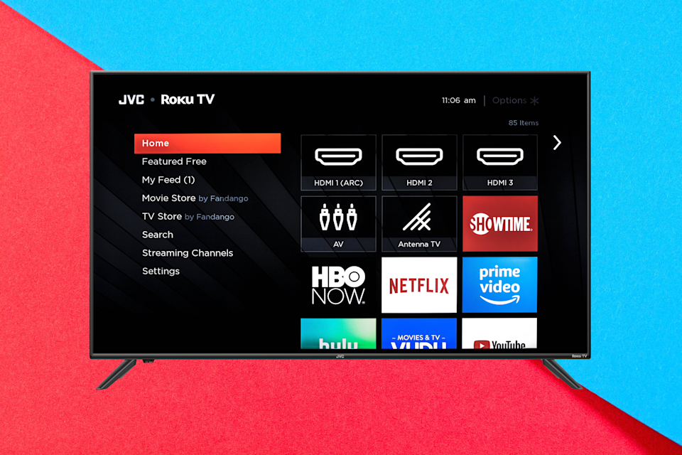 Save $111 on this JVC 50-inch Class 4K Ultra HD Roku Smart LED TV. (Photo: Walmart)