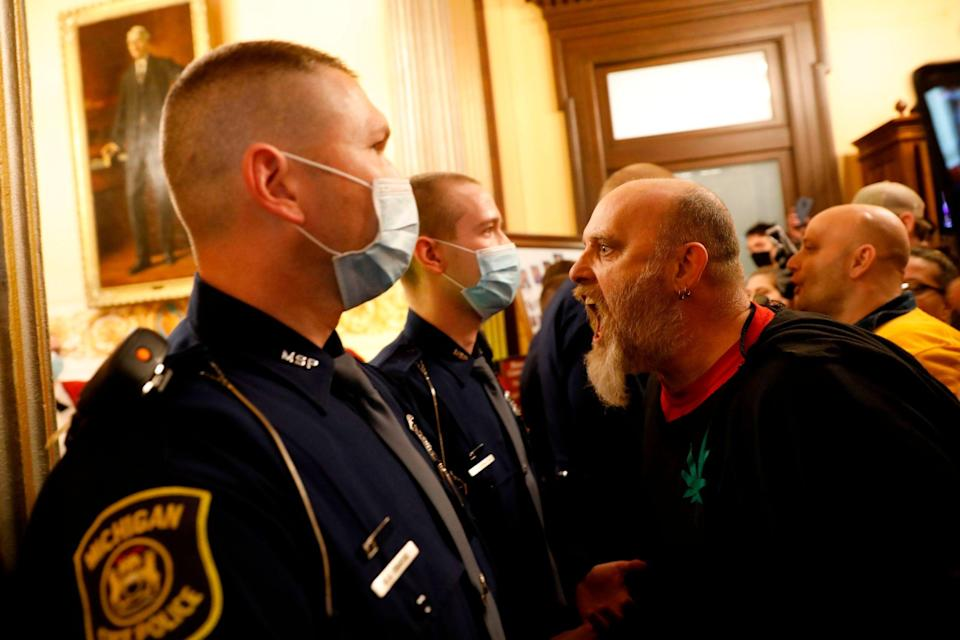 Disturbances in Michigan last year foreshadowed the insurrection at the US CapitolAFP via Getty Images