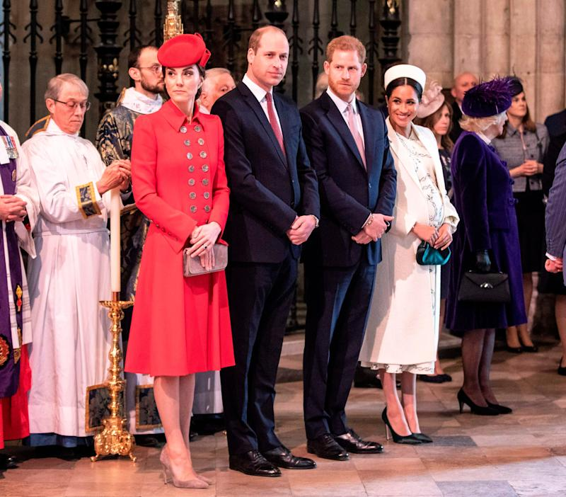 There's been a few schedule clashes between the royal families Photo: Getty Images