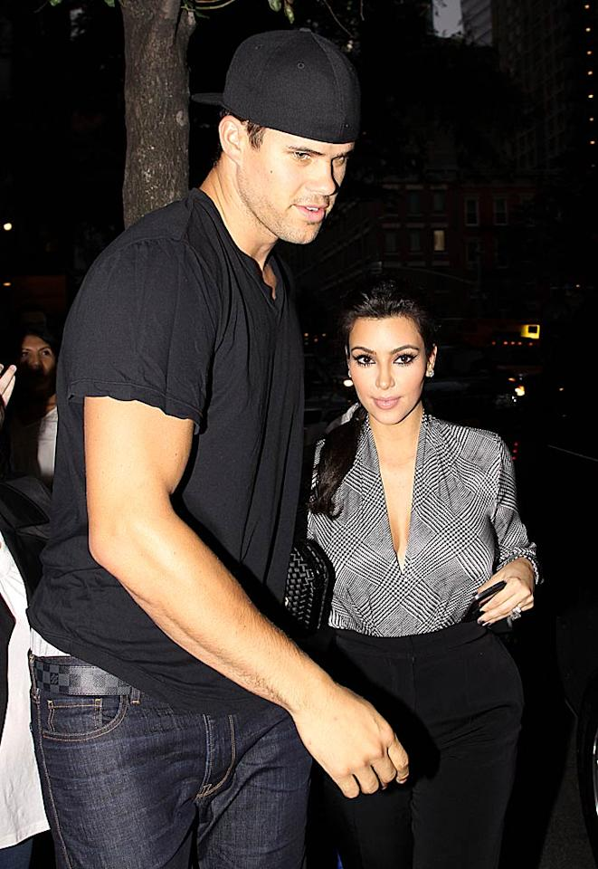"Kim Kardashian has just realized ""her marriage is a mistake,"" reports Life & Style. The mag says Kardashian is ""miserable,"" and is now admitting to friends she ""didn't take time to get to know"" Kris Humphries better. According to Life & Style, Kardashian is also concerned he's ""using her for her money."" For how upset the reality star is, and whether she's headed for a quick split, check out what a Kardashian insider reveals exclusively to Gossip Cop.  Said Elatab / Splash News - September 10, 2011"