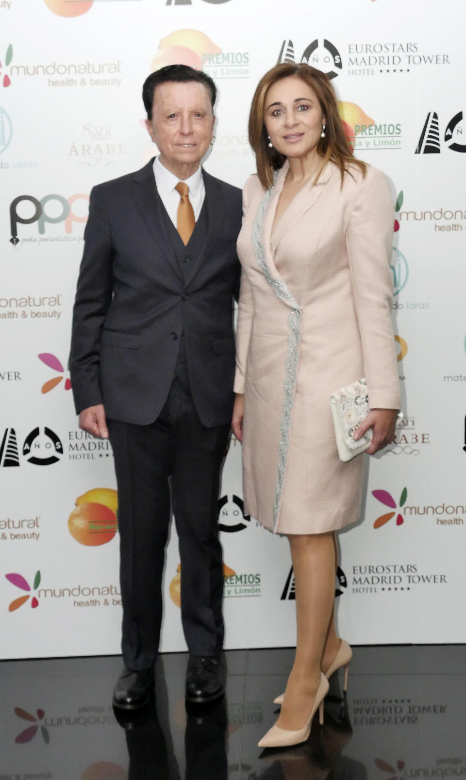 MADRID, SPAIN - APRIL 10: José Ortega Cano and Ana María Aldón attend 'Naranja Y Limon' Awards 2019 at Eurostars Tower Hotel on April 10, 2019 in Madrid, Spain. (Photo by Europa Press Entertainment/Europa Press via Getty Images)
