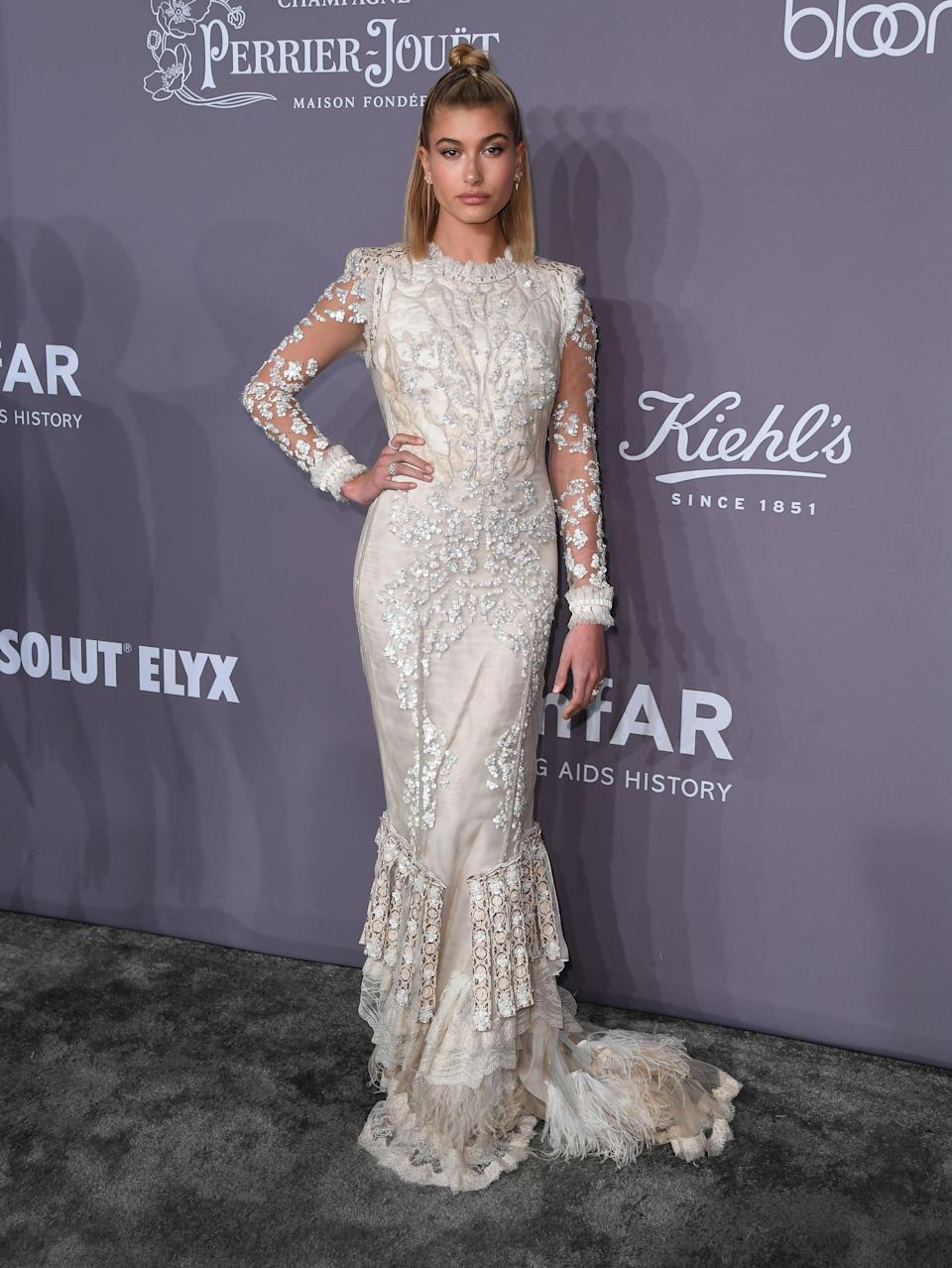 <p>Stephen Baldwin's model daughter opted to wear a gown by Roberto Cavalli. <em>[Photo: Getty]</em> </p>