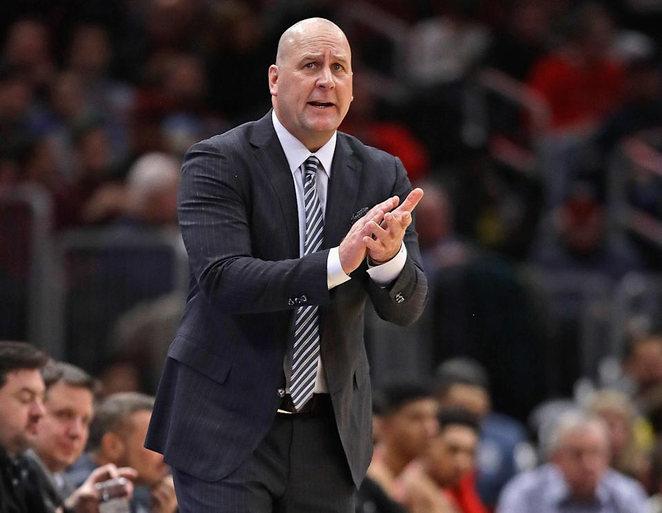 Some Bulls players reportedly pushed to boycott Jim Boylen's Sunday practice three games into his tenure. (Getty)