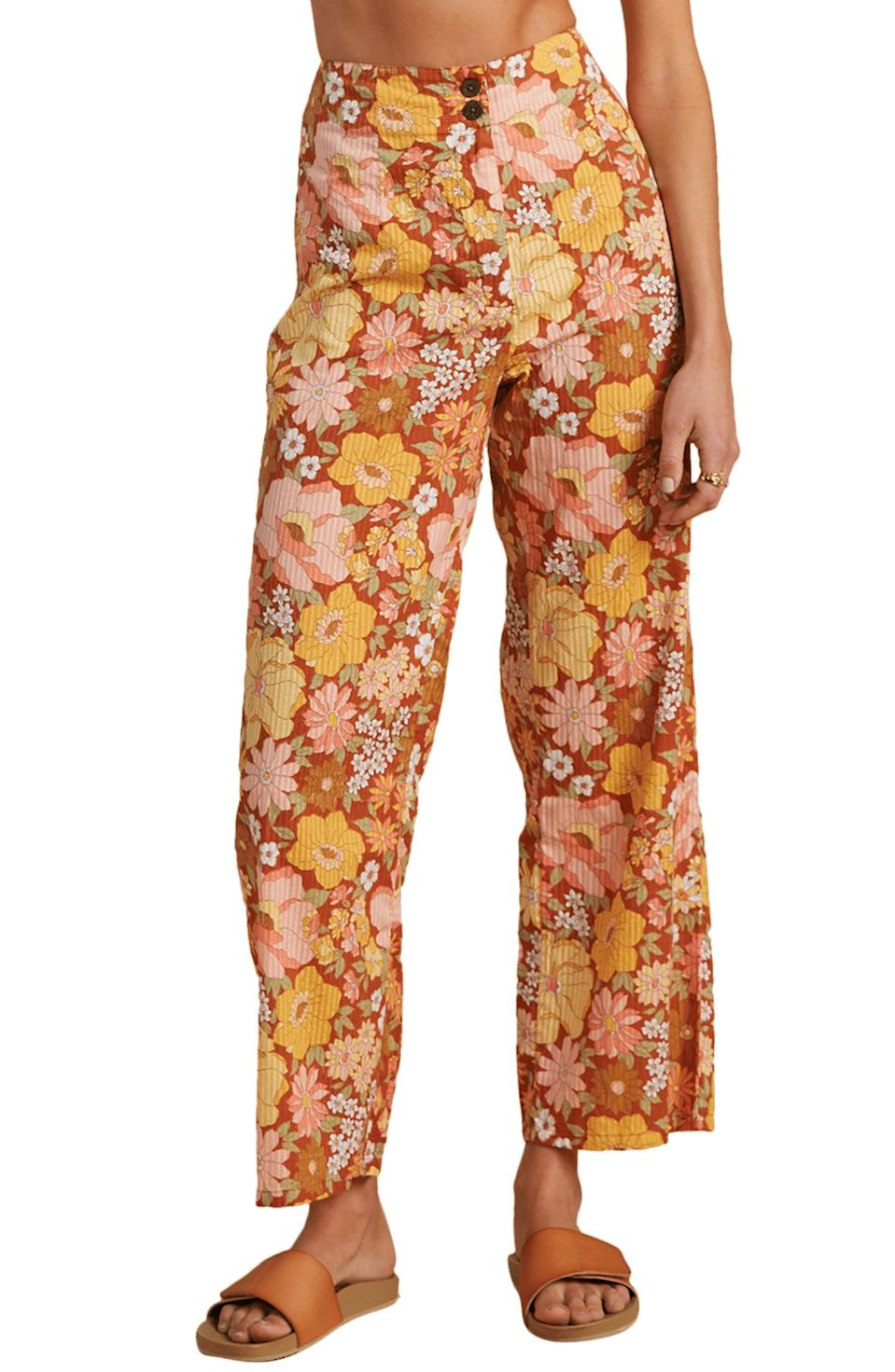 <p>Bring on the beachy vibes with this lightweight <span>Billabong x The Salty Blonde Break Point Floral Print Wide Leg Pants</span> ($86). They feature an adorable retro floral print that'll be sure to earn you tons of compliments.</p>