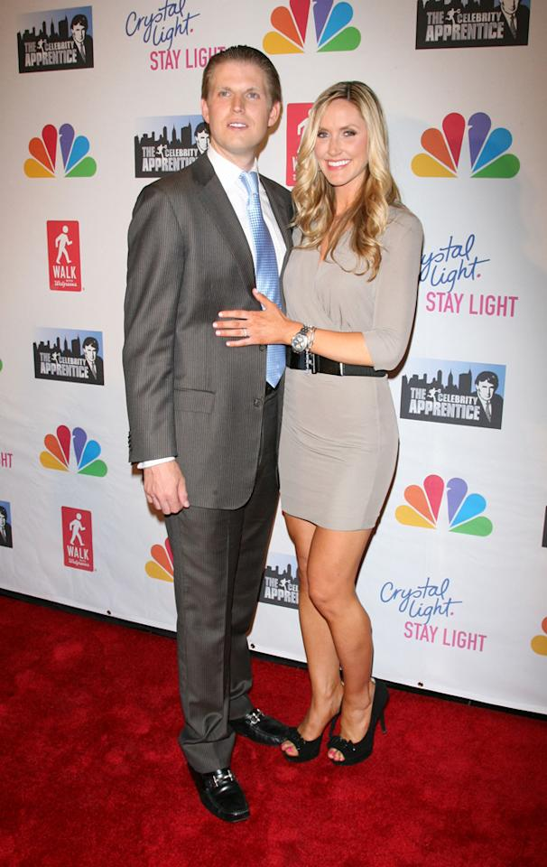 """Eric Trump and wife attend the """"Celebrity Apprentice"""" Live Finale at American Museum of Natural History on May 20, 2012 in New York City."""
