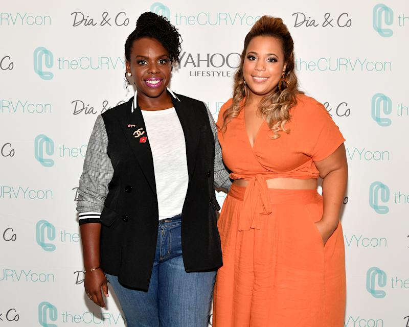 NEW YORK, NY - SEPTEMBER 08: theCURVYcon co-founders Cece Olisa and Chastity Garner Valentine attend theCURVYcon Powered By Dia&Co on September 8, 2018 in New York City. (Photo by Slaven Vlasic/Getty Images theCURVYcon)