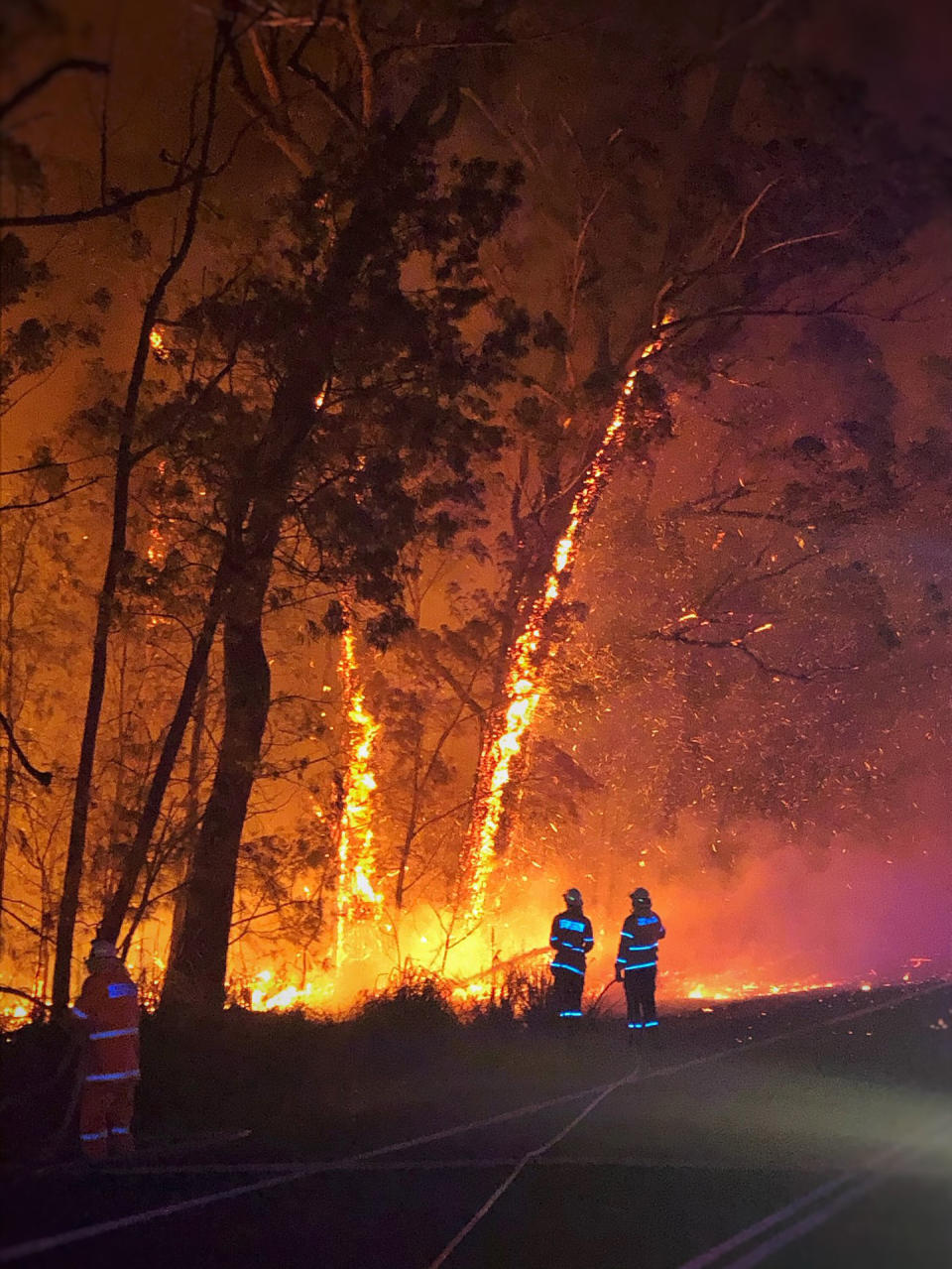But 24 fires still remain burning in NSW, all of which are south of Sydney.