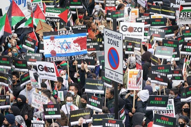 Palestine solidarity march – London