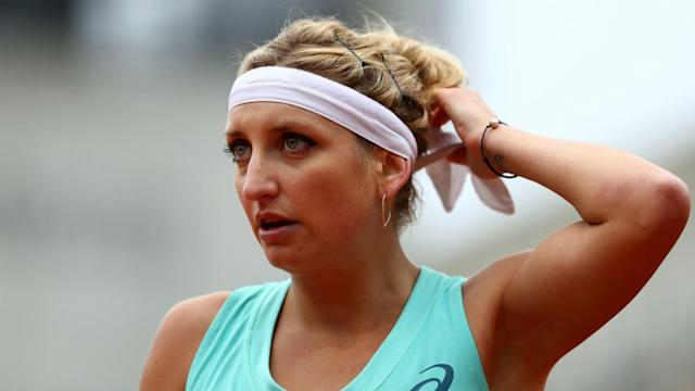 Teenager CiCi Bellis shocked second seed Timea Bacsinszky to reach the last eight in Rabat.