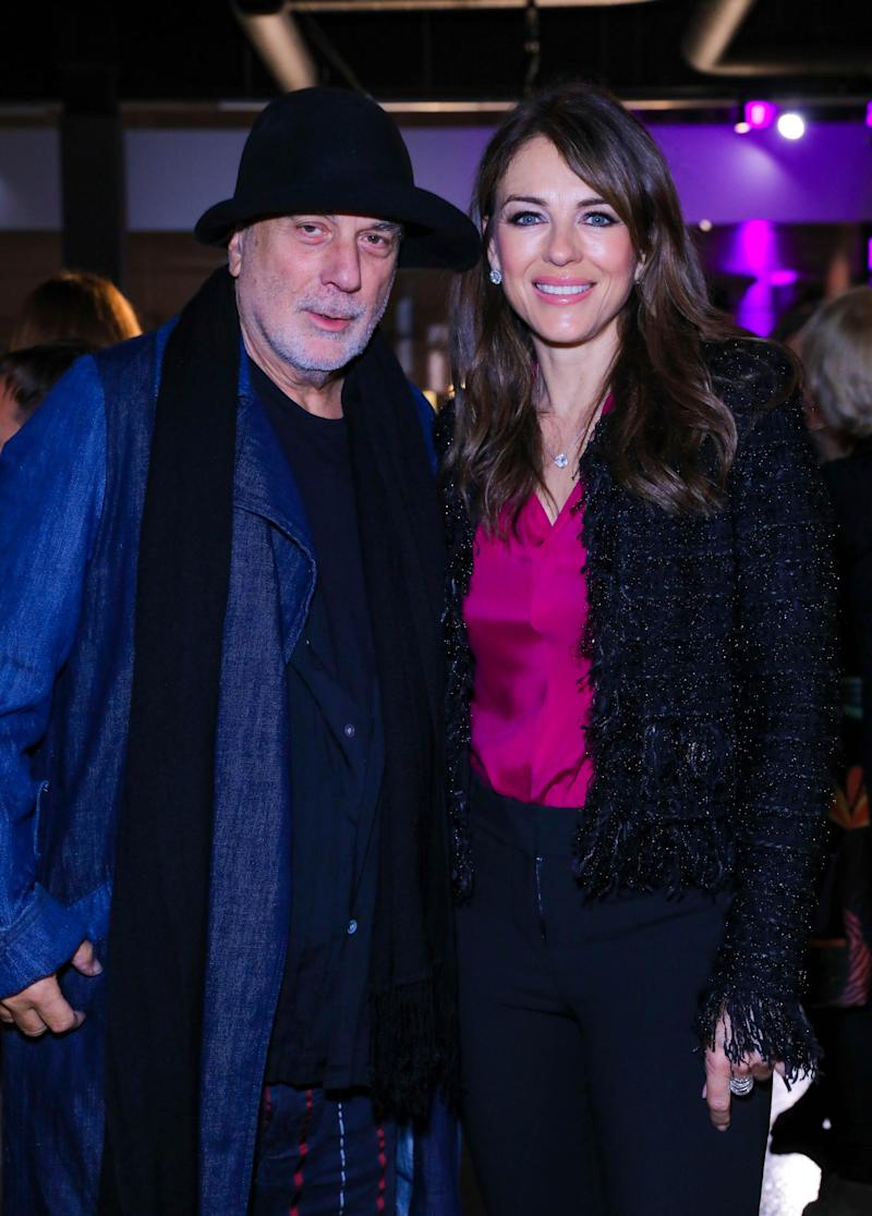 (Dave Benett/Getty Images for OKA) Ron Arad and Liz Hurley