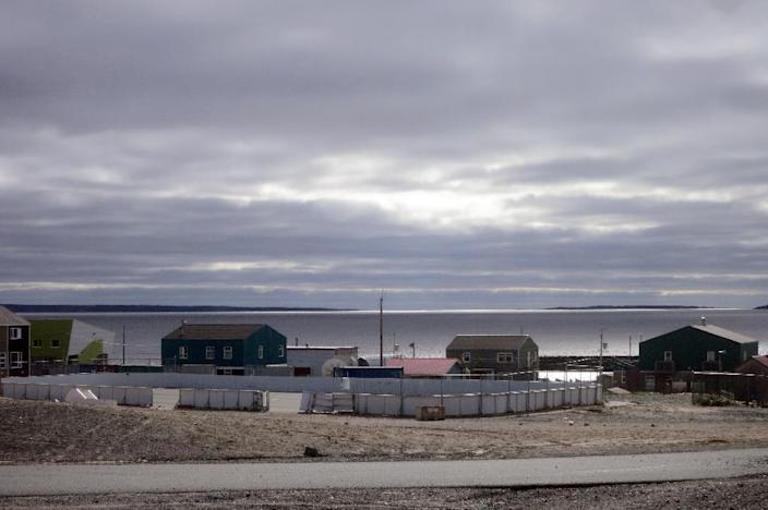 The Inuit village of Umiujaq, in Nunavik territory, Hudson Bay, Quebec (AFP Photo/Catherine Hours)