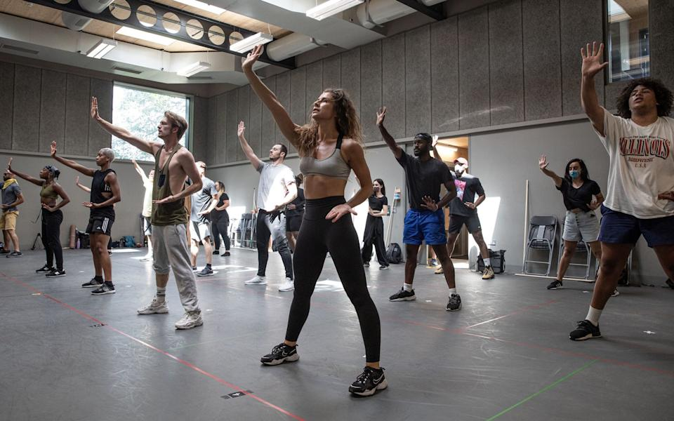Resurrection: rehearsals for a Covid-safe Jesus Christ Superstar, which was last performed at the Open Air Theatre in 2016