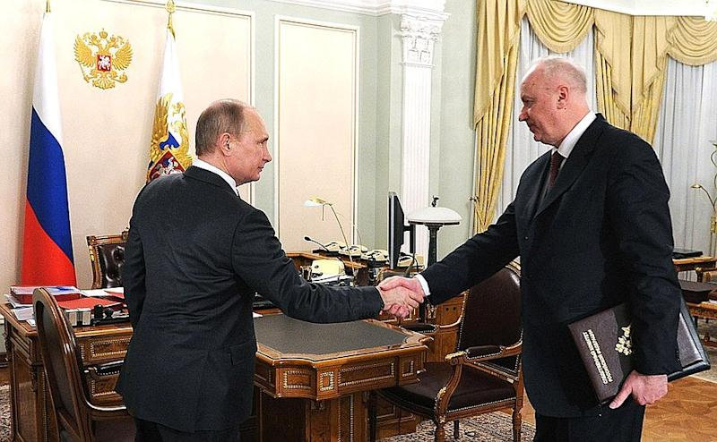 Vladimir Putin meeting with Chairman of the Investigative Committee Alexander Bastrykin. Source: Kremlin.ru