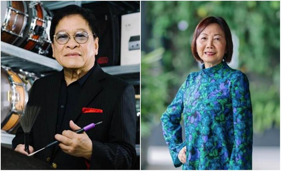 Cultural Medallion recipients jazz musician Louis Soliano and dance choreographer Low Mei Yoke. (PHOTOS: National Arts Council)