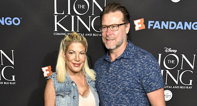 Tori Spelling and husband Dean McDermott in August 2017. (Photo by Rodin Eckenroth/WireImage)