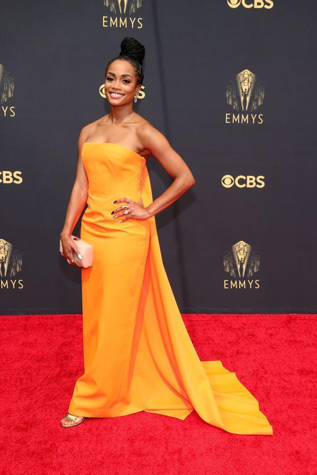Rachel Lindsay attends the 73rd Primetime Emmy Awards at L.A. Live on Sunday in Los Angeles. (Photo: Rich Fury/Getty Images)