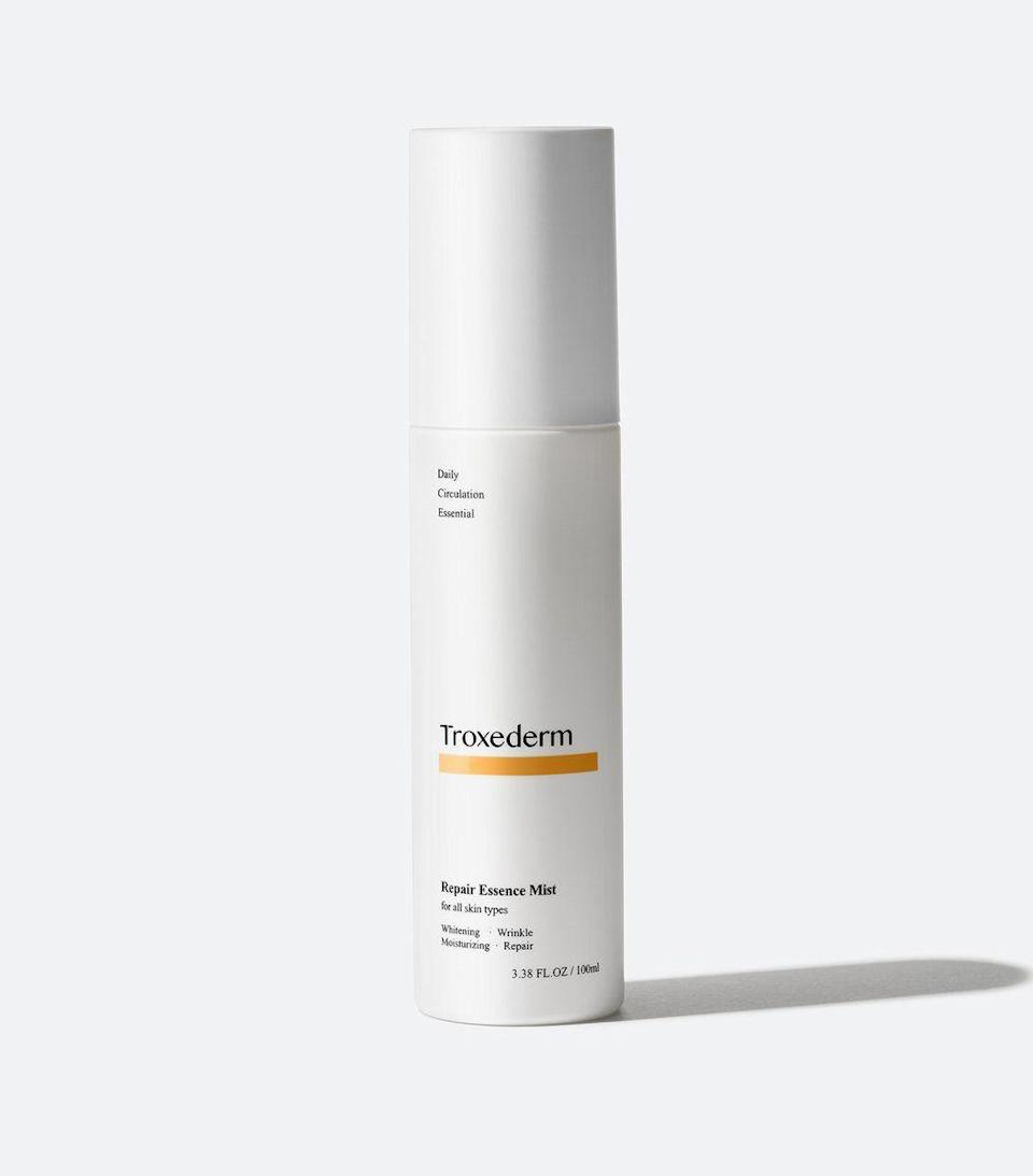 """<p><strong>Troxederm</strong></p><p>peachandlily.com</p><p><strong>$32.00</strong></p><p><a href=""""https://www.peachandlily.com/products/troxederm-repair-essence-mist"""" rel=""""nofollow noopener"""" target=""""_blank"""" data-ylk=""""slk:Shop Now"""" class=""""link rapid-noclick-resp"""">Shop Now</a></p><p>""""The other product that I actually love using throughout the day is a mist,"""" Yoon says, recommending this Troxederm option that """"she's absolutely obsessed with."""" Yoon first heard about this viral mist from dermatologists in Korea, who would frequently use this product to help calm skin down after irritating treatments. The main ingredient in this product—troxerutin—is exploding in popularity among the Korean skincare world, per Yoon.</p>"""