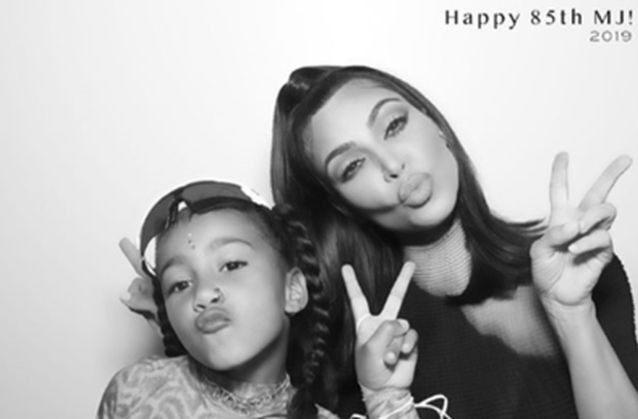 North West and Kim at MJ's Birthday