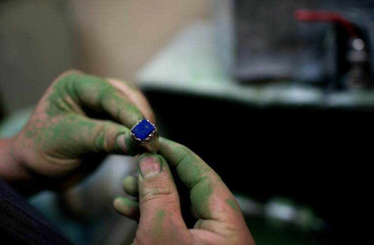 Afghanistan has done better digging for semi-precious lapis lazuli, but the business is plagued with smuggling to Pakistan