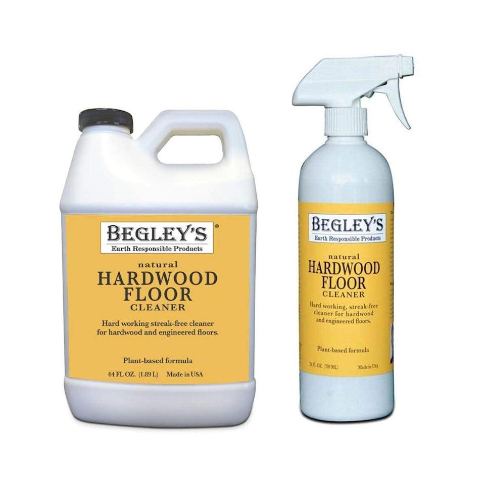 <p>Quickly melt away dirt and grime with the <span>Begley's Best Earth Responsible Natural Plant-Based Hardwood Floor Cleaner </span> ($22).</p>