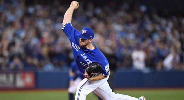 Joe Biagini has been a reliable workhorse for the Blue Jays all season and he came up huge on Saturday. (Frank Gunn/CP)