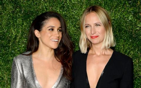 Meghan Markle (Left) and Misha Nonoo attend the 12th annual CFDA/Vogue Fashion Fund Awards at Spring Studios on November 2, 2015 in New York  - Credit: Andrew Toth/Getty Images