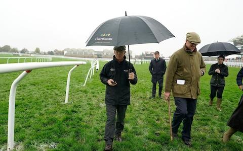 <span>Simon Claisse, clerk of the course, has had to abandon the first day of the November meeting because of rain</span> <span>Credit: Alan Crowhurst/Getty Images </span>