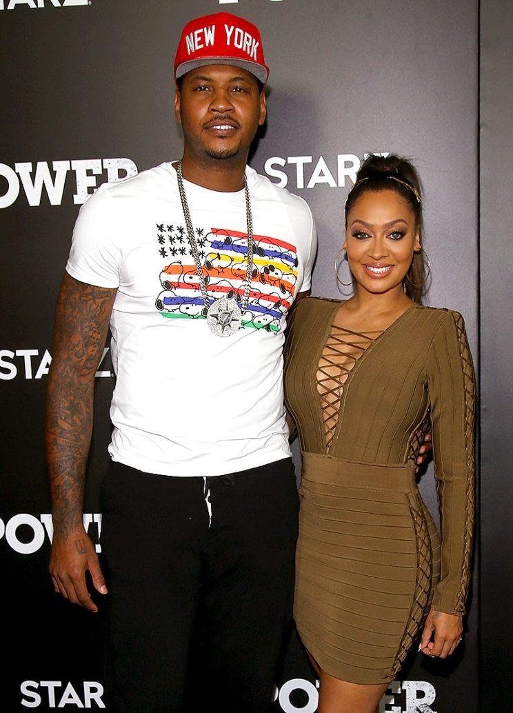 Carmelo Anthony and La La Anthony in NYC.