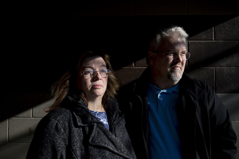 Pam and Karl Bacon are pictured.