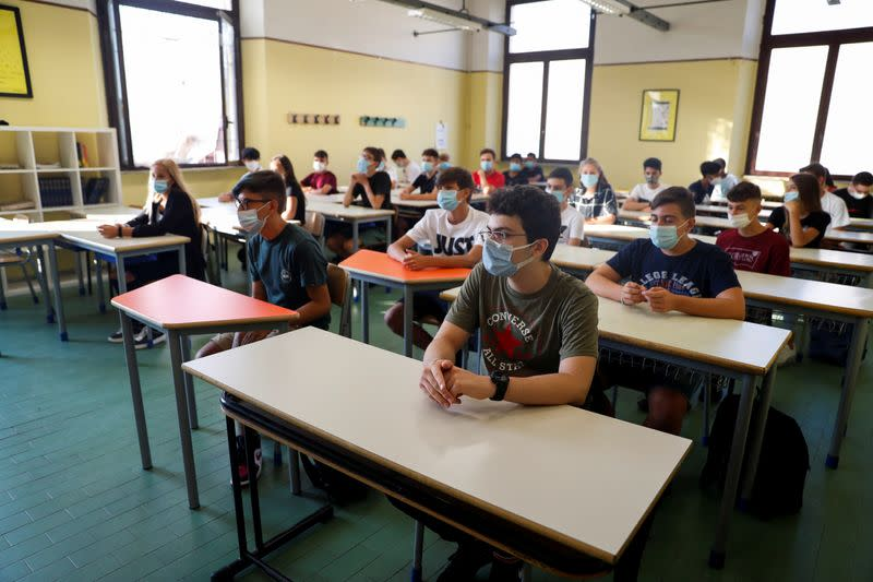 Happiness, controversy and fear as Italy's schools finally reopen