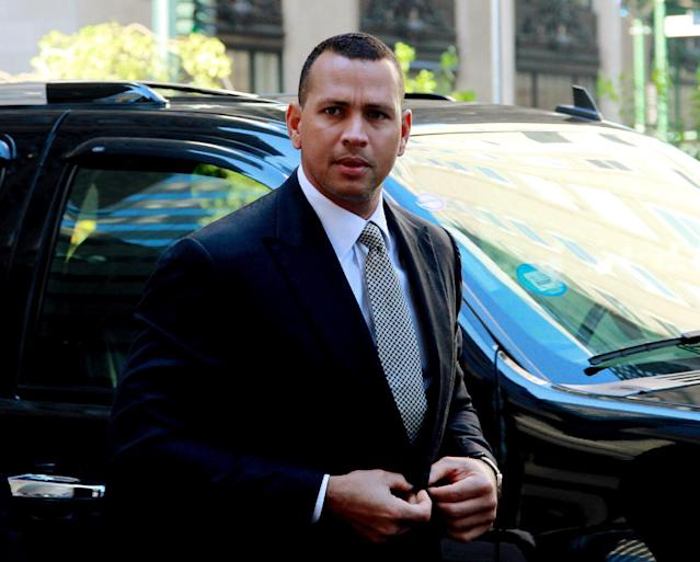 "FILE - This Oct. 1, 2013 file photo shows New York Yankees' Alex Rodriguez arrivng at the offices of Major League Baseball in New York. Rodriguez sued Major League Baseball and its players' union Monday, Jan. 13, 2014 seeking to overturn a season-long suspension imposed by an arbitrator who ruled there was ""clear and convincing evidence"" he used three banned substances and twice tried to obstruct the sport's drug investigation. (AP Photo/David Karp, file)"