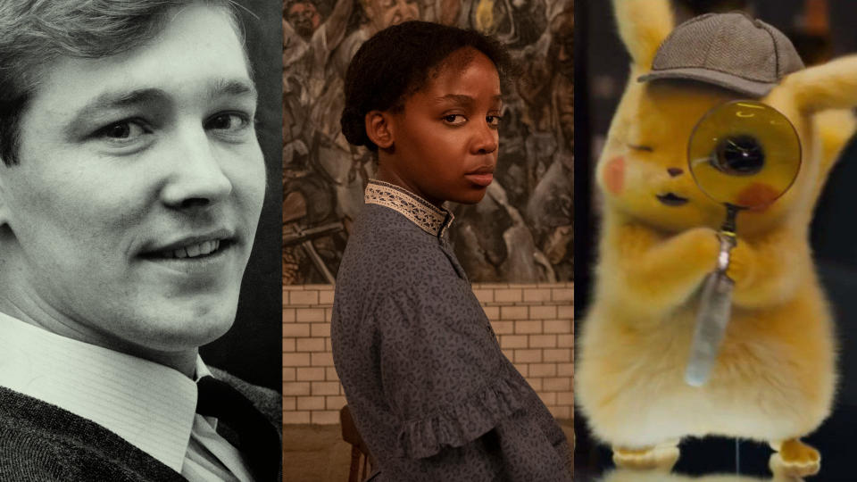 'Sir Alex Ferguson: Never Give In', 'The Underground Railroad' and 'Pokémon Detective Pikachu'. (Credit: Mirrorpix/Kyle Kaplan/Amazon/Warner Bros)