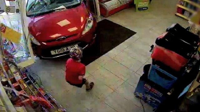 Drunk Driver Ploughs into Store