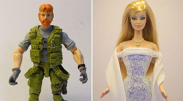 Pink and Blue toys: Gi Joe and Barbie are made by Mattel.