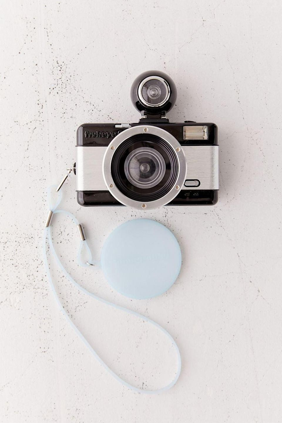 <p>If they love film photographer, get them the <span>Lomography Fisheye 2.0 35mm Camera</span> ($55). It looks cool, and has a unique fisheye feature. </p>