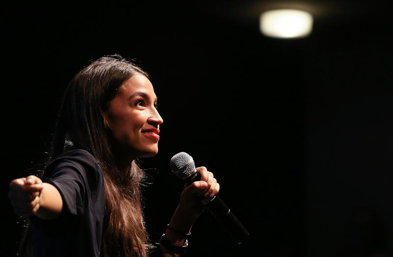 House candidateAlexandria Ocasio-Cortezis projected to become the youngest woman elected to Congress this November when she will be 29 years old. (Mario Tama via Getty Images)