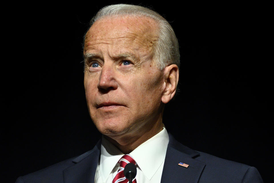 """Lucy Flores says Biden's """"intimate behavior"""" at a 2014 event left her uncomfortable. (Photo by Bastiaan Slabbers/NurPhoto)"""