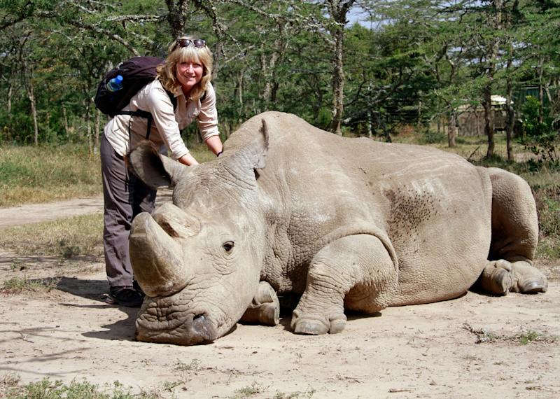Sue Watt on a previous conservation trip in SudanWill Whitford