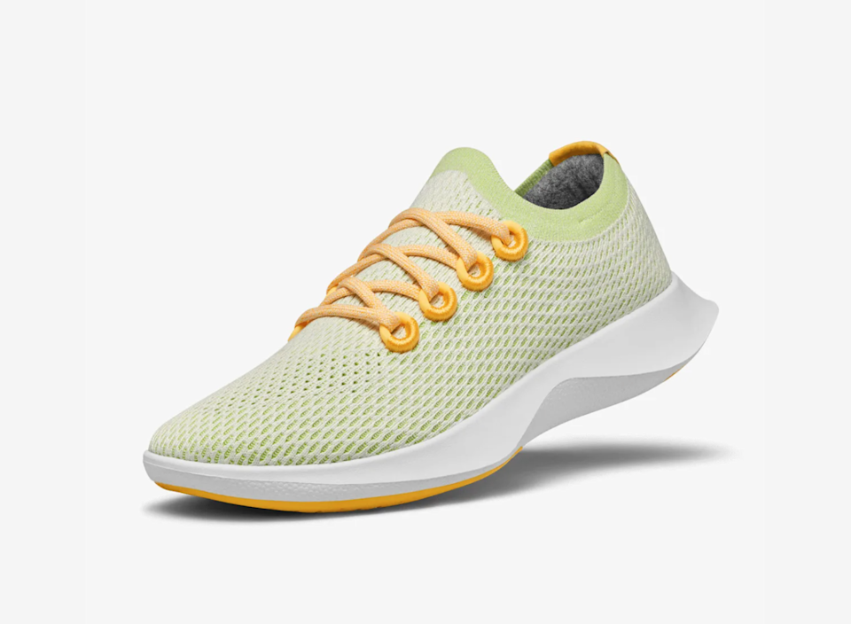 """<h2>Allbirds</h2><br>You're likely already familiar with Allbirds' commitment to using environmentally-friendly materials in building their sleek and sublimely comfortable footwear — but did you know that they're also a B-corp?<br><br><em>Shop <strong><a href=""""http://allbirds.com"""" rel=""""nofollow noopener"""" target=""""_blank"""" data-ylk=""""slk:Allbirds"""" class=""""link rapid-noclick-resp"""">Allbirds</a></strong></em><br><br><strong>Allbirds</strong> Tree Dasher, $, available at <a href=""""https://go.skimresources.com/?id=30283X879131&url=https%3A%2F%2Fwww.allbirds.com%2Fproducts%2Fwomens-tree-dashers-gaia"""" rel=""""nofollow noopener"""" target=""""_blank"""" data-ylk=""""slk:Allbirds"""" class=""""link rapid-noclick-resp"""">Allbirds</a>"""