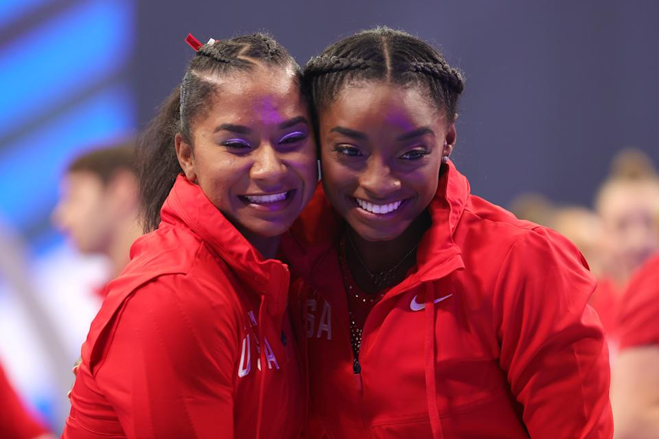 <p>Jordan and Simone train together with the same coaches and in the same gym so the pair are very close. (Photo by Carmen Mandato/Getty Images)</p>