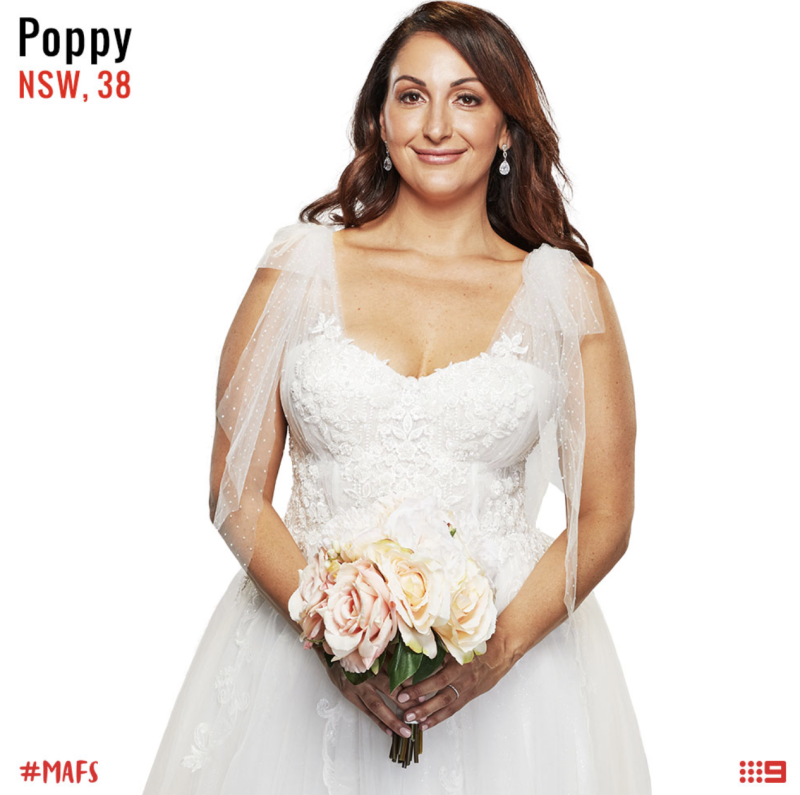 married at first sight bride poppy